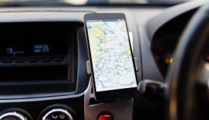 Smartphone dans une voiture